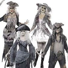 Adult Mens Ladies Pirate Ghost Ship Zombie Sailor Halloween Fancy Dress Costume