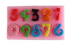 Stampo in Silicone Numeri Cifre Fondente Decorazione per Torte Cuocere Formina
