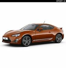 ORIG. TOYOTA GT86 ARGENTO LUCIDO SIDE DOOR STRIPE KIT pz438-10021-sg