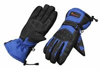 BLUE TRACKER TEXTILE WATERPROOF THERMAL WINTER MOTORCYCLE MOTORBIKE GLOVES