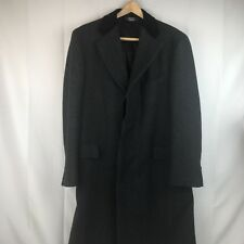 Paul Stuart Velvet Collar Top Coat Winter Overcoat Mens 42 Dress Long