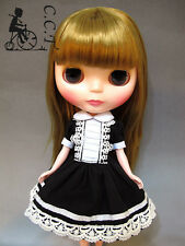 C.C.T Blythe Momoko Pullip Dal doll outfit black & white gothic dress c-463