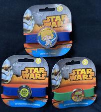 (3) Small Disney Star Wars Interchangeable Charm Bracelets 1 Lights Up By Roxo