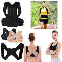 Unisex Body Back Shoulder Posture Corrector Brace Support Women Lift up Bra Belt