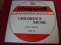 Chappell Index Series Children's Music vol 2  NM  Library  LP  Psych/Funk/Breaks