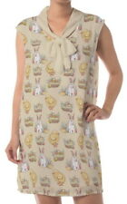 Easter Rabbit Women Chiffon Bow Collar Sleeveless Shift Dress b144 acc03293