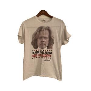 Men T-Shirts Shameless TV Show Frank Gallagher For President Gilden Tee Medium