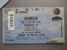 X FACTOR LIVE  LONDON  21/02/2010  TICKET UNUSED
