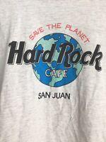 Vintage Hard Rock Cafe Tshirt Save The Planet - Single Stitch - San Juan - Tee