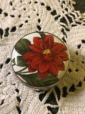Halcyon Days Dahlia Flower Pierre-Joseph Redoute Rhs Enamel Silver Trinket Box!