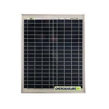 Pannello Solare Fotovoltaico 20W 12V 4 BUS BAR Auto Camper Nautica + Ebook