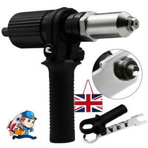 Electric Rivet Nut Gun Adaptor Insert Cordless Power Drill Tool Professional Kit