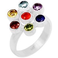 Healing Chakra 925 Sterling Silver Ring Jewelry S.10  SSS CP120