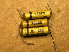 3 Vintage York .01 uf 400v Wax Guitar Tone Capacitors
