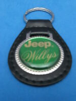WILLYS WILLY'S JEEP AUTO TRUCK LEATHER KEYCHAIN KEY CHAIN RING FOB #275