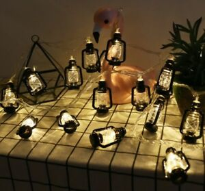 Battery Plug USB String Light Vintage Retro Water Oil LED Light Home Garden Set