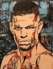 """Beautiful """"Nate Diaz"""",  Original Abstract  Painting On Stretched Canvas"""