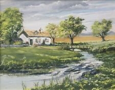 'Riverside Cottage' by W. R. Kyle (Oil)
