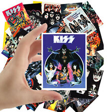 """Stickers pack [24 stkrs 2.5""""x3.5""""ea] Vintage Kiss Rock Music Posters Ads 5009"""