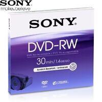 Sony Dvd-Rw 1,4 GB 8cm 30min Mehrfach Beschreibbar Mini DVD Discs für Camcorder