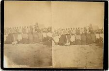 W R Cross Stereoview – Omaha Dance Celebration, Nebraska / S Dakota c1880s