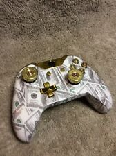 Xbox One 1 Controller Custom MONEY $100 Shell,Gold Buttons,Bullet ABXY/Thumbsick