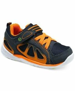 NIB STRIDE RITE Athletic Shoes Flash Navy Blue Orange 4 4.5 M