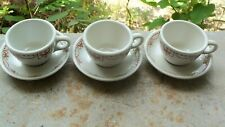 Antique Muehlebach Hotel Kansas City 3 Cup Coffee Saucer Sterling China Portions