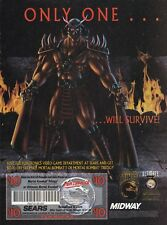 1996 MORTAL KOMBAT Trilogy /  ULTIMATE 3  Sears coupon video game print ad page