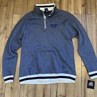 J America WSOP embroidered Peppered Fleece 1/4 zip Men's Large Navy