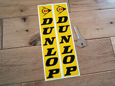 DUNLOP Black on Yellow Red D Fork Slider 210mm Pair Classic Bike STICKERS Tyres