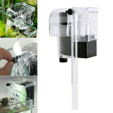Mini Aquarium Fish Tank Waterfall Hang On External Oxygen Pump Water Filter US