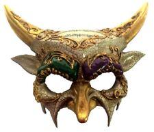 Mardi Gras Horned Devil Party Half Mask Adult Mens Venetian Costume Accessory