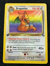 Pokemon CCG Dragonite Fossil 1st First Edition Rare 19/62 NM