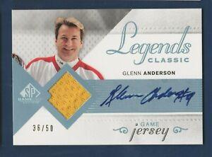 GLENN ANDERSON 2007-08 SP GAME USED JERSEY AUTO 36/50 HGL-GA        41867