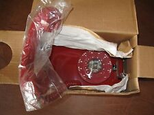 Vintage new 1975 Red Western Electric Bell System 554 Rotary Wall Telephone