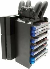 2-in-1 Games Storage Tower and Twin Charging Dock (PlayStation 4)