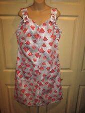 WOMENS DRESS XL 1X SIZE 16 VINTAGE BEACH DRESS ROMPER WITH SAILBOATS