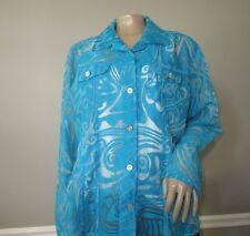 Chico's Jacket Women's sz 2 Blue