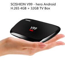 SCISHION V99 - hero Android TV Box Octa-core H.265 4K Mini PC 4GB + 32GB UK PLUG