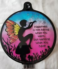 Window Suncatcher Magical Fairy Happiness Stained Glass Effect l Free Postage