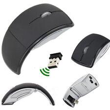 3D Optical Wireless Foldable Mouse 2.4GHz 1200 DPI 10 Meters Range Windows Black