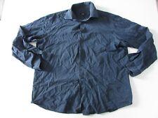 Hugo Boss Mens Blue Long Sleeved Shirt Size 44