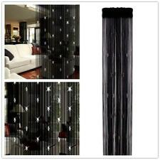 String Curtain Classic Negro Cuerdas Tassle Panel Divisor Pantalla Ventana Cortina para Puerta 90/x 200/cm