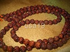 One Faced Ek Mukhi Rudraksha Mala Rosary 108+1 beads Ceylon Free Shipping