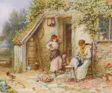 A Lace Maker by M B Foster - Art Old Country Cottage Craft Woman 8x10 Print 0448