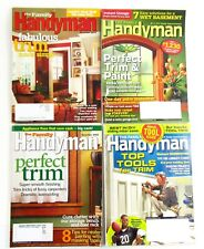 The Family Handyman Magazine Lot of 4 Wood Trim Issues Various Years