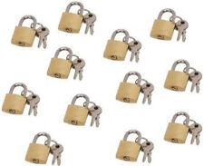 LOT OF 12 small brass padlock (20MM) Mini Tiny Lock Box Jewelry drawer dozen