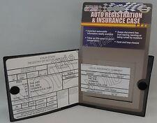 Auto Car Truck Registration Insurance Document Holder Wallet Case Id Black Card