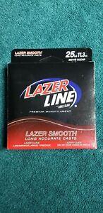 Eagle Claw Premium Monofilament Lazer Line 25 lb test EL-25 Clear Smooth 275yd